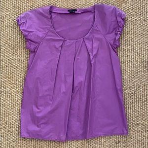 Purple Short Sleeved Cotton Top